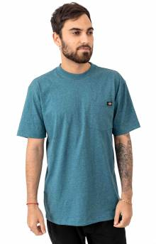 (WS450HBUD) S/S Heavyweight T-Shirt - Baltic Blue Single Dye Heather