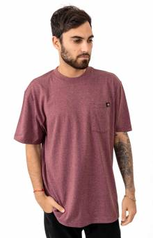(WS450HBYD) S/S Heavyweight T-Shirt - Burgundy Single Dye Heather