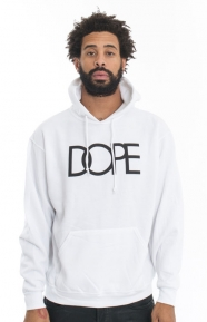 Dope Clothing, Logo Pullover Hoodie - White
