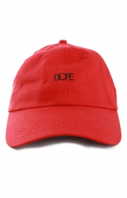 Dope Clothing, Script Dad Hat - Red