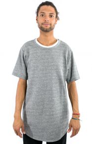 Elwood Clothing, French Terry Curved Hem Tall T-Shirt - Natural/Black