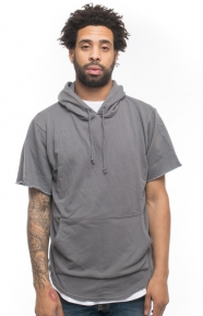Elwood Clothing, French Terry S/S Pullover Hoodie - Concrete