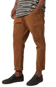 Elwood Clothing, Relaxed Cropped Cargo Pants - Brown