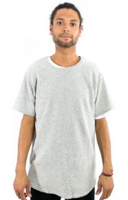 Elwood Clothing, Reverse Terry Curved Hem Tall T-Shirt - Natural
