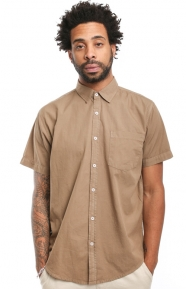 Elwood Clothing, Tailored Fit WKND Button-Up Shirt - Brown