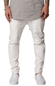 Elwood Clothing, Tapered Pant w. Side Zip Pockets - White
