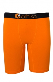 Ethika Clothing, The Staple Solids Briefs - Orange/Black