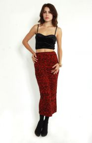 Burning Embers Knitted Midi Skirt