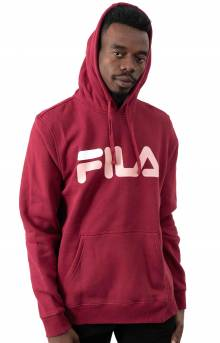 Fiori Pullover Hoodie - Red