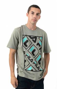 Jalen T-Shirt - Vetiver/Black/Blue Turquoise