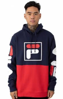 Marzio Pullover Hoodie - Navy/Red