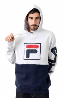 Marzio Pullover Hoodie - White/Navy
