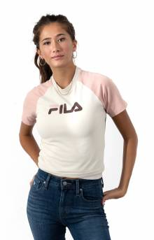 Aisha Crop Tee - Turtle Dove