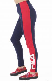 Macarena High Waisted Legging - Navy/Red