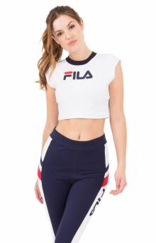 Pia Crop Tee - White