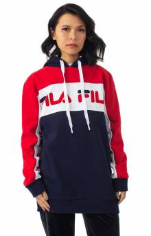 Rita Oversized Pullover Hoodie - Peacoat/Red/White