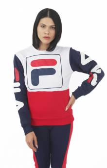 Stacy Sweatshirt - White/Red/Navy