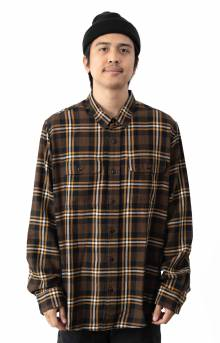 Scout Button-Up Shirt - Brown/Black/Gold