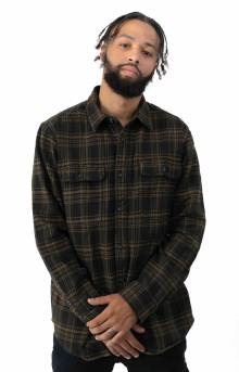 Vintage Flannel Work Shirt - Black/Olive