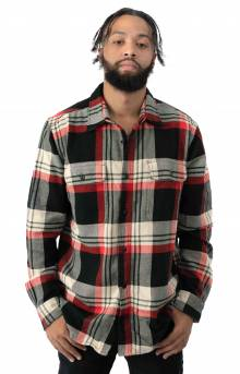 Vintage Flannel Work Shirt - Black/Red Cream