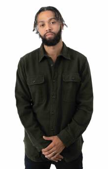 Vintage Flannel Work Shirt - Olive/Faded Black