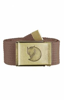 Canvas Brass Belt 4 CM - Dark Sand