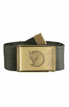 Canvas Brass Belt 4 CM - Mountain Grey