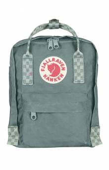 Kanken Mini Backpack - Frost Green/Chess Pattern
