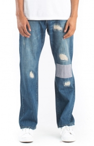 Damaged Denim Pants - Wash
