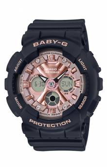 Baby-G BA130-1A4 Watch - Black/Rose Gold