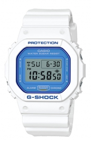 G-Shock Clothing, DW-5600WB-7 Summer Sky Series Watch - White/Blue