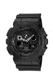 G-Shock Clothing, GA-100-1A1 Big Combination Military Watch - All Black