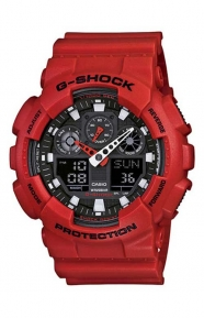 G-Shock Clothing, GA-100B-4A X-Large Series Watch - Red