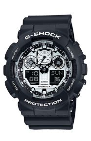 G-Shock Clothing, GA-100BW-1 Black & White Series Watch - Black/White