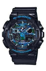 GA-100CB-1A Cool Blue Series Watch - Black