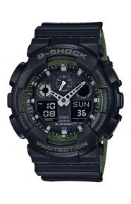 G-Shock Clothing, GA-100L-1A Military Series Watch - Black