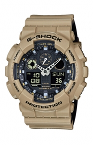 G-Shock Clothing, GA-100L-8A Military Series Watch - Tan