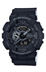 G-Shock Clothing, GA-110LP-1A Military Perforated Series Watch - Black