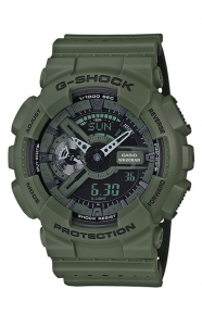 G-Shock Clothing, GA-110LP-3A Military Perforated Series Watch - Green