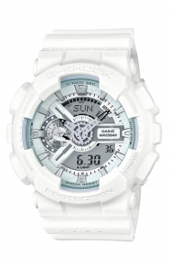 G-Shock Clothing, GA-110LP-7A Military Perforated Series Watch - White