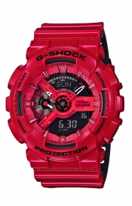 G-Shock Clothing, GA-110LPA-4A Military Perforated Series Watch - Red