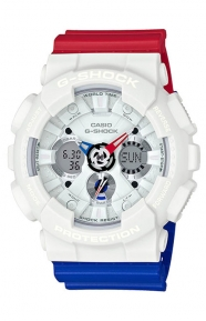 G-Shock Clothing, GA-120TRM-7A Tricolor Series Watch - Red/White/Blue
