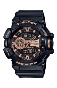 G-Shock Clothing, GA-400GB-1A4 Garish Series Watch - Black/Rose Gold