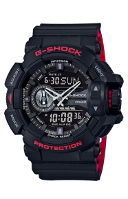 G-Shock Clothing, GA-400HR-1A Heritage Color Series Watch - Black/Red
