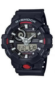 G-Shock Clothing, GA-700-1A Analog Digital Watch - Black/Red