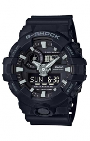 G-Shock Clothing, GA-700-1B Analog Digital Watch - Black