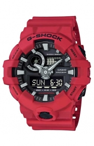 G-Shock Clothing, GA-700-4A Analog Digital Watch - Red