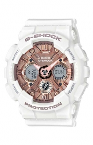 GMA-S120MF-7A2 S Series Watch - White/Rose Gold
