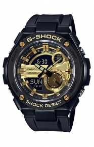 G-Shock Clothing, GST-210B-1A9 G Steel Series Watch - Black/Gold