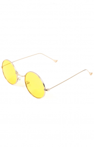 Mayfair Sunglasses - Gold/Yellow Lens